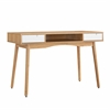 Perry Desk Natural, White