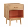Perry End Table Natural, Orange