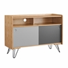Perry Storage Console Natural, Light Gray, Dark Gray