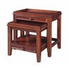 "Wander Nesting Tables, 24""W X 16.5""D X 24""H, Cherry"