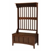 "Linon Hall Tree With Storage Bench, 36""W X 18""D X 64""H, Walnut"