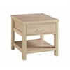 "Linon Aspen End Table, 19.5""W X 19.5""D X 20.1""H, Blonde"
