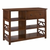 Titian Tall Media Center Antique Tobacco
