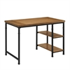 "Austin Two Shelf Desk, 45""W X 26""D X 30""H, Black, Ash Veneer"
