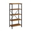 "Austin Bookcase, 26""W X 15""D X 54""H, Black, Ash Veneer"