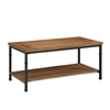 "Linon Austin Coffee Table, 44""W X 22""D X 20""H, Black, Ash Veneer"