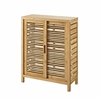 Bracken Two Door Floor Cabinet Natural Bamboo