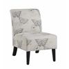 "Linen Butterfly Lily Chair, 21.5""W X 29.5""D X 31.5""H, Dark Espresso"