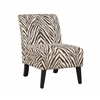 "Linon Linen Zebra Lily Chair, 21.5""W X 29.5""D X 31.5""H, Dark Walnut"