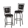 "Townsend Three Piece Adjustable Stool Set, 16""W X 18""D X 38.5-44.75""H, Dark Brown Powder Coating"