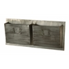 "Industrial Metal Two Slot Mailbox - Horizontal, 29.25""W X 4""D X 12""H, Grey"