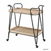 Mid-Century Rectangular Bar Cart Black, Wood