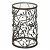 Bird and Branch Accent Table Rustic Brown and Gold