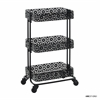 Black Metal Three Tier Cart Black