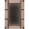 "Vintage Framed Wall Mirror - Large, 32""W X 3""D X 48""H, Beige, Brown"