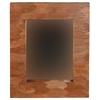 "Mahogany Leaf Rectangle Mirror, 25.5""W X 2.75""D X 29.5""H, Brown"