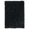 Linon Faux Sheepskin Black  3 X 5