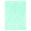 Linon Faux Sheepskin Blue  5 X 7