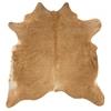 Linon Cowhide Brown Stencil & Brown Stencil Full Skin, Beige