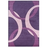 Linon Corfu Collection Purple & Baby Pink 8 X 10.3