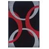 Linon Corfu Collection Black & Red 8 X 10.3