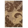 Linon Corfu Collection Tan & Brown 5 X 7.7
