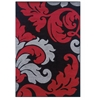 Linon Corfu Collection Black & Red 1.10 X 2.10