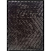 Linon Links Zigzag Charcoal 8X10