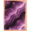 "Links Wave 1'10"" X 2'10"", Purple"