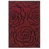 "Linon Milan Collection, 96""W X 123""D X 0.5""H, Garnet"