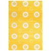 "Linon Prisma Karma Yellow, 63""W X 90""D X .25""H"