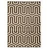 Roma Zigzag Ivory/Choc 5X7