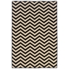 Linon Saloniki Chevron Black 5' X 8
