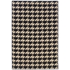 Saloniki Houndstooth Blk 5' X8, Black