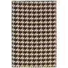 Linon Saloniki Houndstooth Brown 5X8