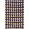 Saloniki Houndstooth Purp 5X8, Purple