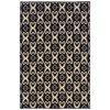 Saloniki Ikat Black 5' X 8'