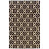 Linon Saloniki Ikat Brn 5' X 8', Brown