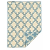 Salonika Quatrefoil 5X8, Light Blue