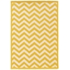 Linon Silhouette Chevron Yellow 5X7