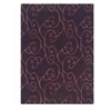 Linon Trio Collection Chocolate & Violet 1.10 X 2.10