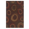 Linon Trio Collection Chocolate & Rust 8 X 10