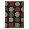 Linon Trio Collection Brown & Pale Blue 5 X 7