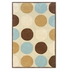 Linon Trio Collection Tan & Ice Blue 8 X 10
