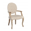 Exeter Linen Arm Chair Light Natural Brown