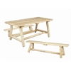 TABLE, CLASSIC FARMERS W/BENCH