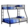 Walker Edison Twin over Full Metal Bunk Bed - Black