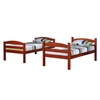 Walker Edison Twin Solid Wood Bunk Bed - Cherry