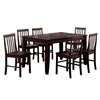 7-Piece Espresso Wood Dining Set