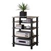 Walker Edison Black Multilevel Component Stand